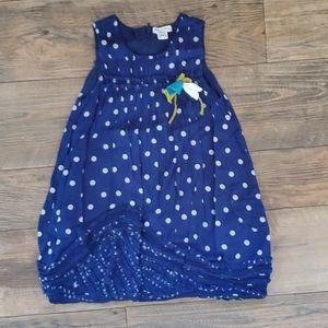 Girls polka dot bubble hem dress